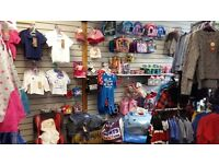 Kids clothing business for sale + all stock & fixtures, cheapest rent in leeds
