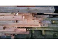 Selection of sawn timber for building or firewood