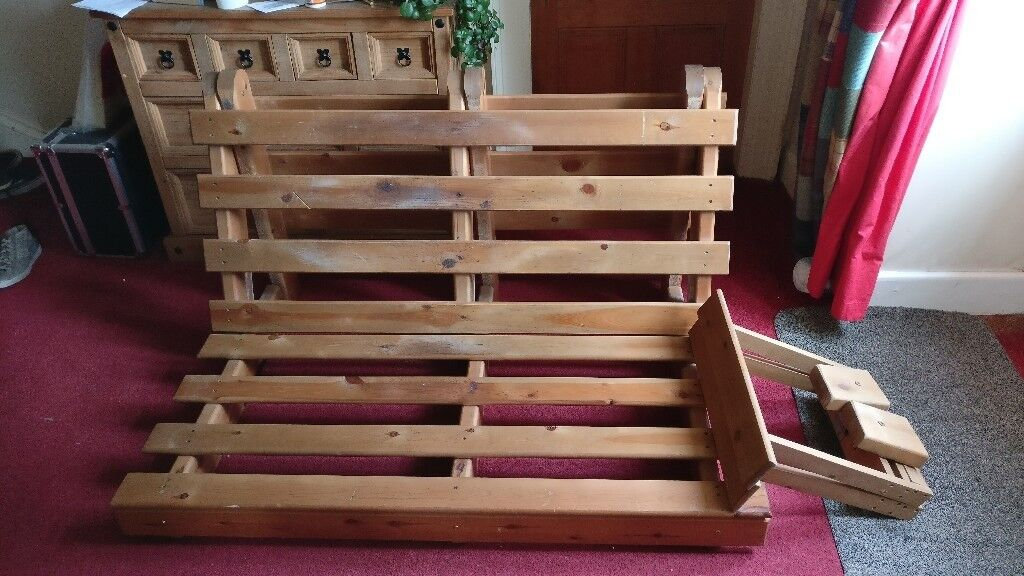 Sofabed Futon Style Base Only Needs Or Mattress Good Strong Pine Wood In Tain Highland Gumtree