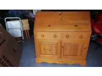 Beautiful Solid Pine Bureau/Writing Desk - Very Good Condition