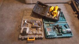 2x hammer drills & saw
