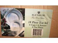 Tea Set - 18 Piece all White (NEW)