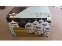 New 6 box Tommee Tippee closer to nature decorated bottles with slow flow teats