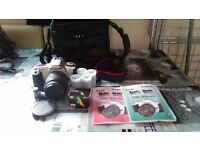 Canon camera with accesories