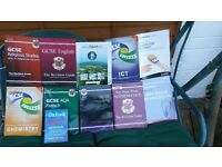 GCSE Revision Guides, English, Maths, French, Geography, Computer Sceince , Buisness.