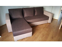 Corner sofa bed. Brand new. Brown colour // free delivery