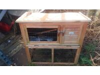 Free rabbit house and a hay bag