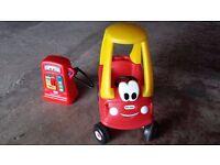 Little Tikes cozy coupe car & cozy pumper fuel pump cosy coupe