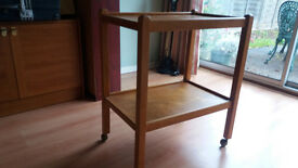 Light Wood Tea Trolley