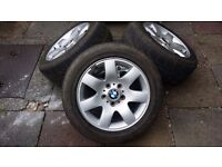 Set Of 4 BMW Wheels With P6000 Pirelli Tyres