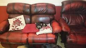 Settee and reclining chair for sale