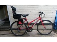 Ladies Apollo Corona Mountain bike with Child Seat