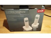 Logitec Cordless large button two handset phone set