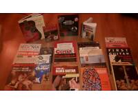 Guitar books and dvds, large variety