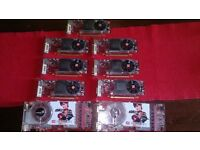 ATI Radeon Graphic cards x 9 spare or repair