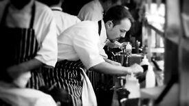 Chef at busy Italian restaurant