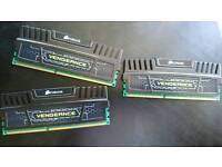 12GB Corsair Vengeance Triple Channel DDR3-2000 RAM, can OC,