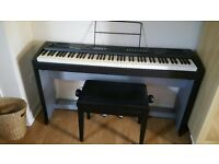 Thoman DP25 Digital piano, stand and stool - true piano sound & touch, hardly used