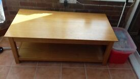 Solid wood coffee table for sale in excellent condition
