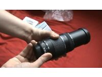 Canon zoom lens EF 75-300mm III. Great beginners zoom lens. Great condition + Free lens hood!