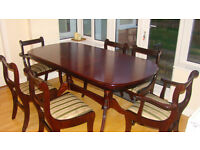 Mahogany Extending Dining Table and 6 Chairs