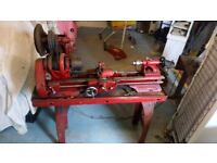 Atlas metal working lathe on stand all working