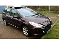 2006 Peugeot 307 SW 1.6 HDi SE 5dr 7 Seater Family Car @07445775115@ 07725982426@