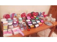 Ribbons, Ribbons, Ribbons! 150 surplus displayed on 2 tables - see all photos!