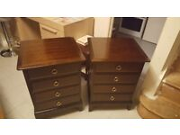 Stag chest of drawers x 2