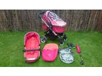 iCandy Peach pram / buggy / pushchair / stroller carrycot with accessories