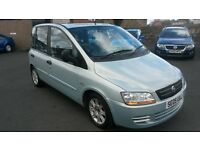 BARGAIN 2005 FIAT MULTIPLA MPV 6 SEATER PX WELCOME £395