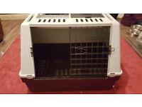 Plastic dogs cage medium size