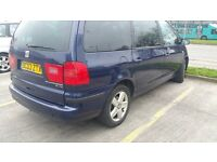 7 SEATER SEAT ALHAMBRA 1.9 TDI,NEW CAMBELT FULL SERVICE,NEW 1 YEAR MOT, FAULTLESS ENGINE AND BOX.