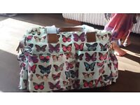Butterfly changing bag