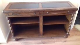 FOR SALE - Solid oak bookcase with 4 shelves, 2 small drawers