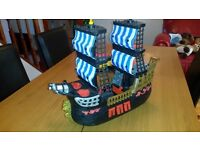 Pirate ship black imaginext with cannon