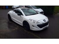 2011 peugeot rcz gt hdi coupe sat nav full leather mot 1 year 70,000 miles 2 owners bargain £5800