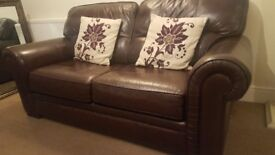 Brown leather sofas for sale!