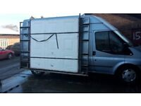 Boltless aluminium side rack frail for ford transit lwb mk7. holds two garage doors