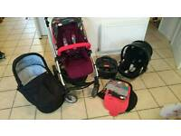 Mamas & Papas Sola2 Pushchair & Cybex Aton Q with Isofix Base (Travel system)