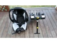 Isofix base + RECARO Young Profi Plus newborn car seat up to 13 kg