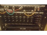 Vintage Lawo V970/1-74 Custom Rack 8 Channel Mic Preamps. Warm, punchy sound!