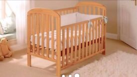 Elegant East Coast Anna Dropside BABY COT IN SOLID PINE + FREE DELIVERY!