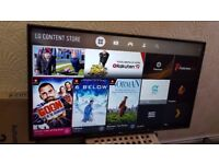 LG 49-inch 49UJ630V SUPER SMART 4K UHD LED TV,built in Wifi,FREEVIEW & FREESAT HD,good CONDITION
