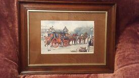 Charles Dickens' from David Copperfield Print by Ludovici Oak Frame & Unusual Oak Veneer Mount