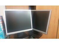 NEC 17 inch LCD monitors x2