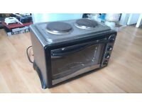 Kitchen fan assisted mini oven with hob