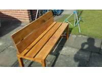 Garden or patio bench