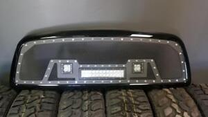 BRAND NEW 2009, 2010, 2011 & 2012 DODGE RAM 1500 MESH LED GRILL WITH FULL SHELL!-NO CUTTING REQ! - FINANCING AVAILABLE