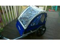 Halfords double buggy bike trailer - baby bike trailer